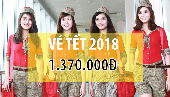 vietjet ve may bay tet 2018